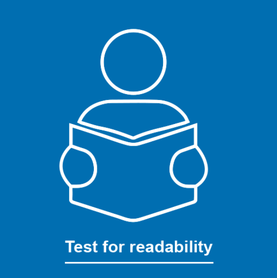 Test for readability and aim for Grade 8